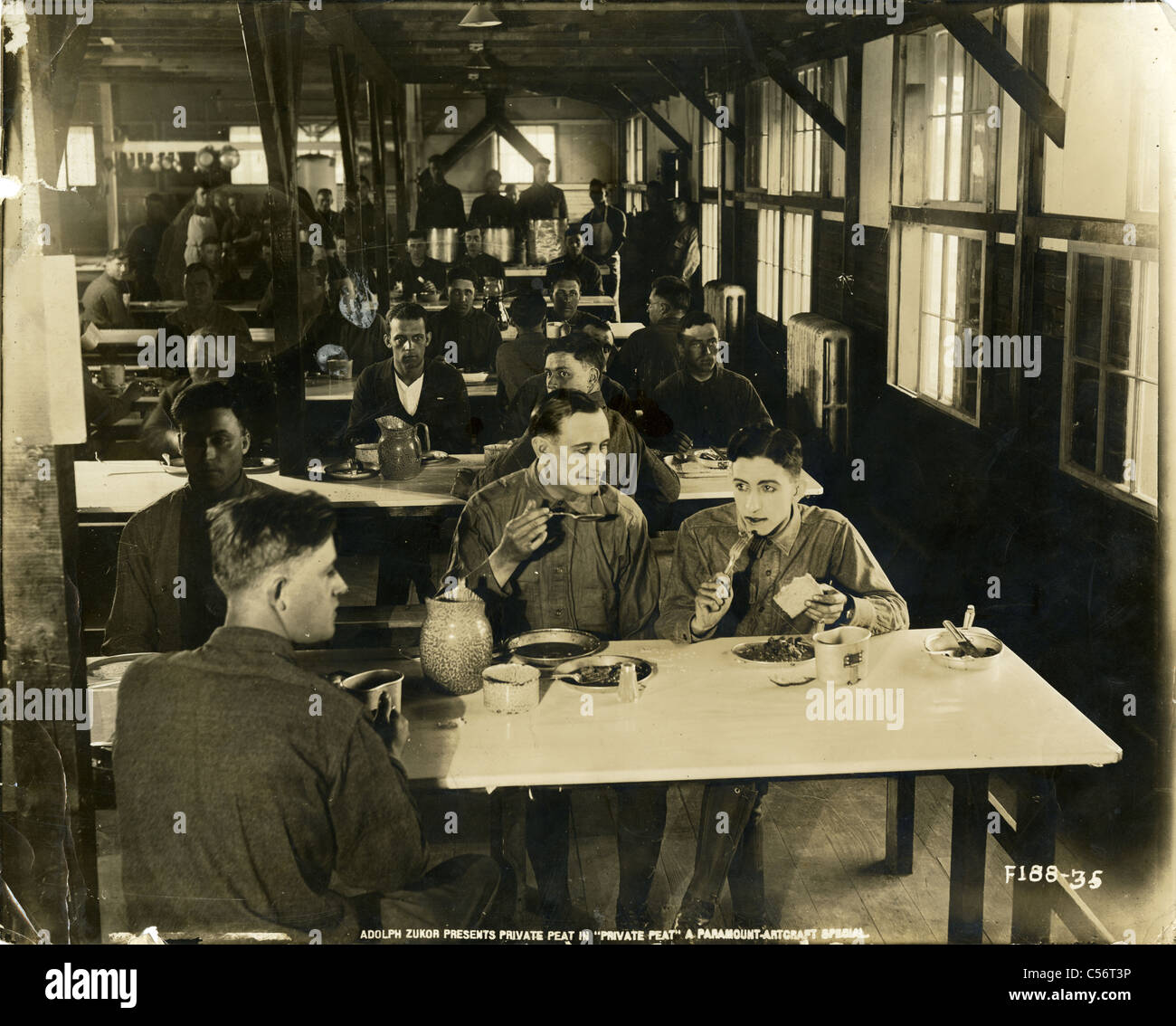 Movie still from 'Private Peat' (1918) starring Harold R. Peat. A biographical World War One war drama. - Stock Image
