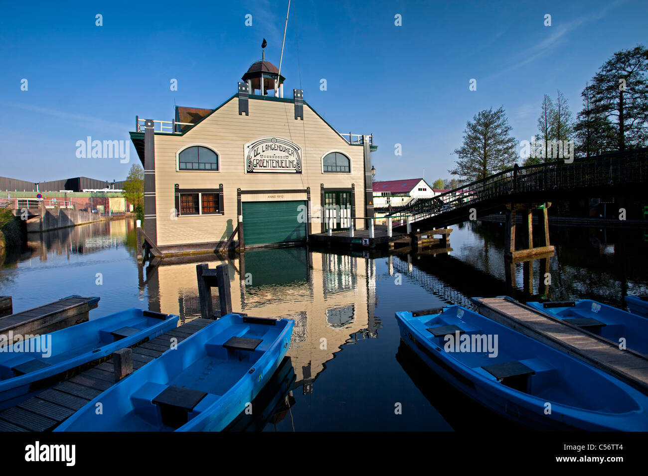 The Netherlands, Broek op Langedijk, Former auction halls for vegetables, now museum. - Stock Image