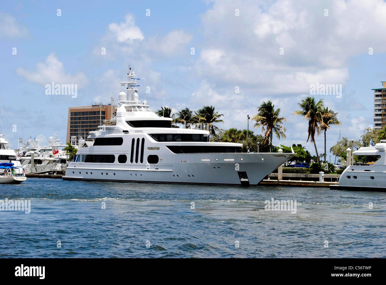 Galant lady yacht in Fort Lauderdale Florida - Stock Image