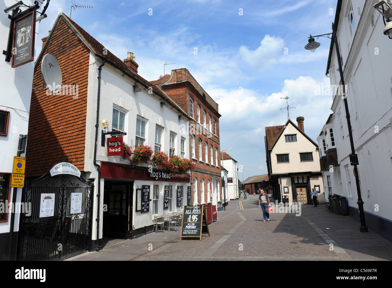Newbury town centre Berkshire England Uk - Stock Image