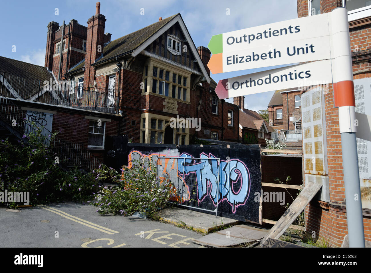 The derelict Royal Alexandra Hospital, Brighton, awaiting redevelopment. - Stock Image