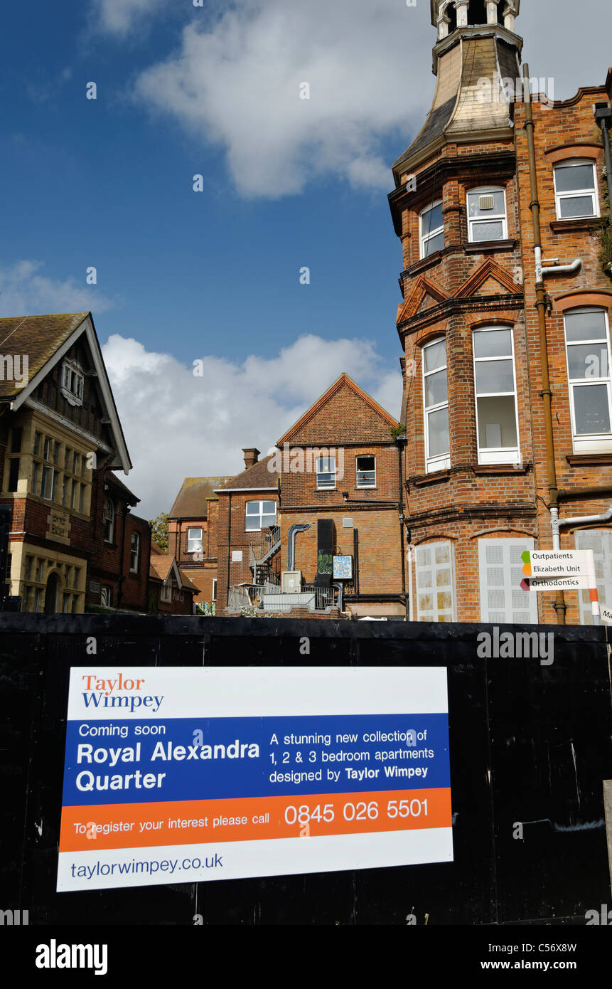 The redevelopment of the Royal Alexandra Hospital, Brighton. - Stock Image
