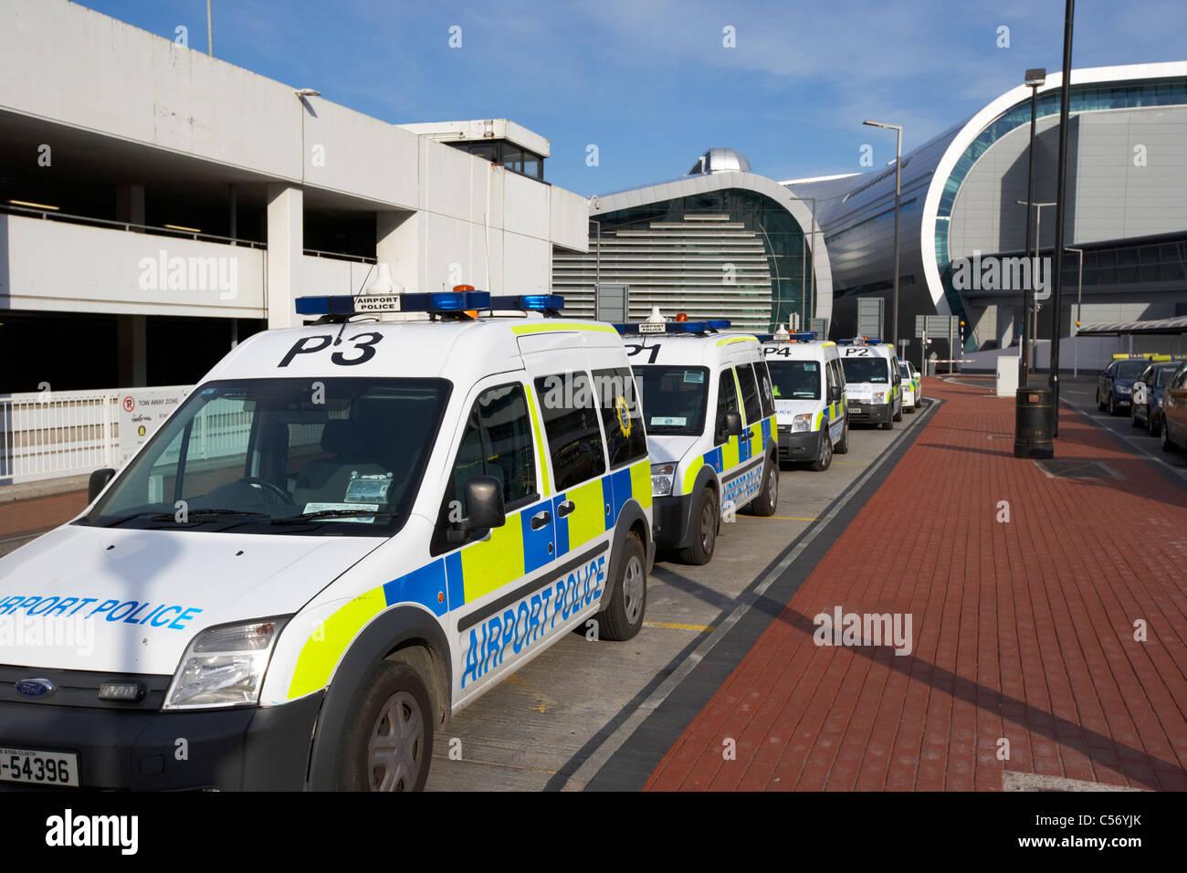 62e7cdbb2e rows of airport police vehicles dublin airport republic of ireland europe