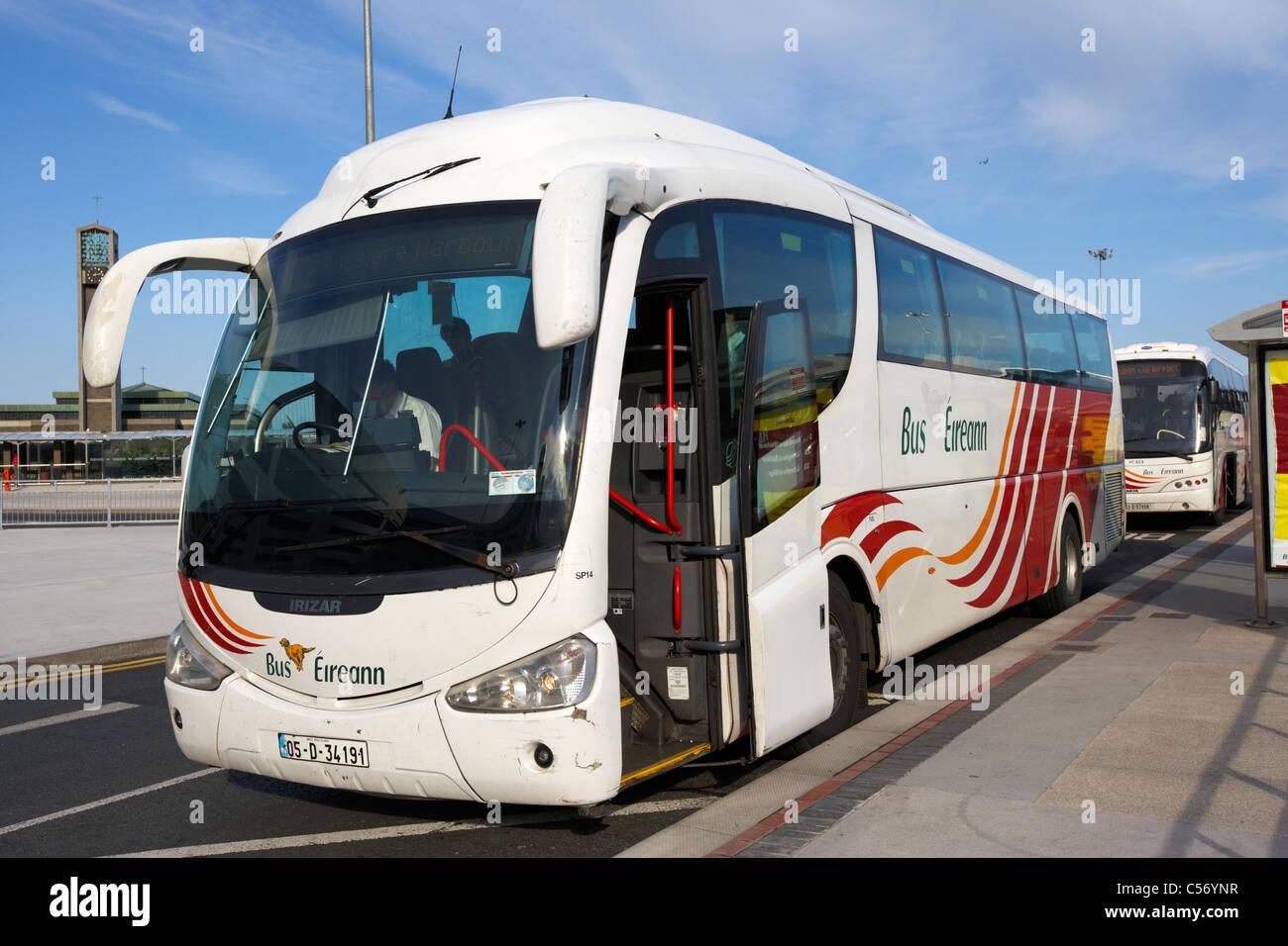 bus eireann irish coach bus at terminal stop dublin airport republic