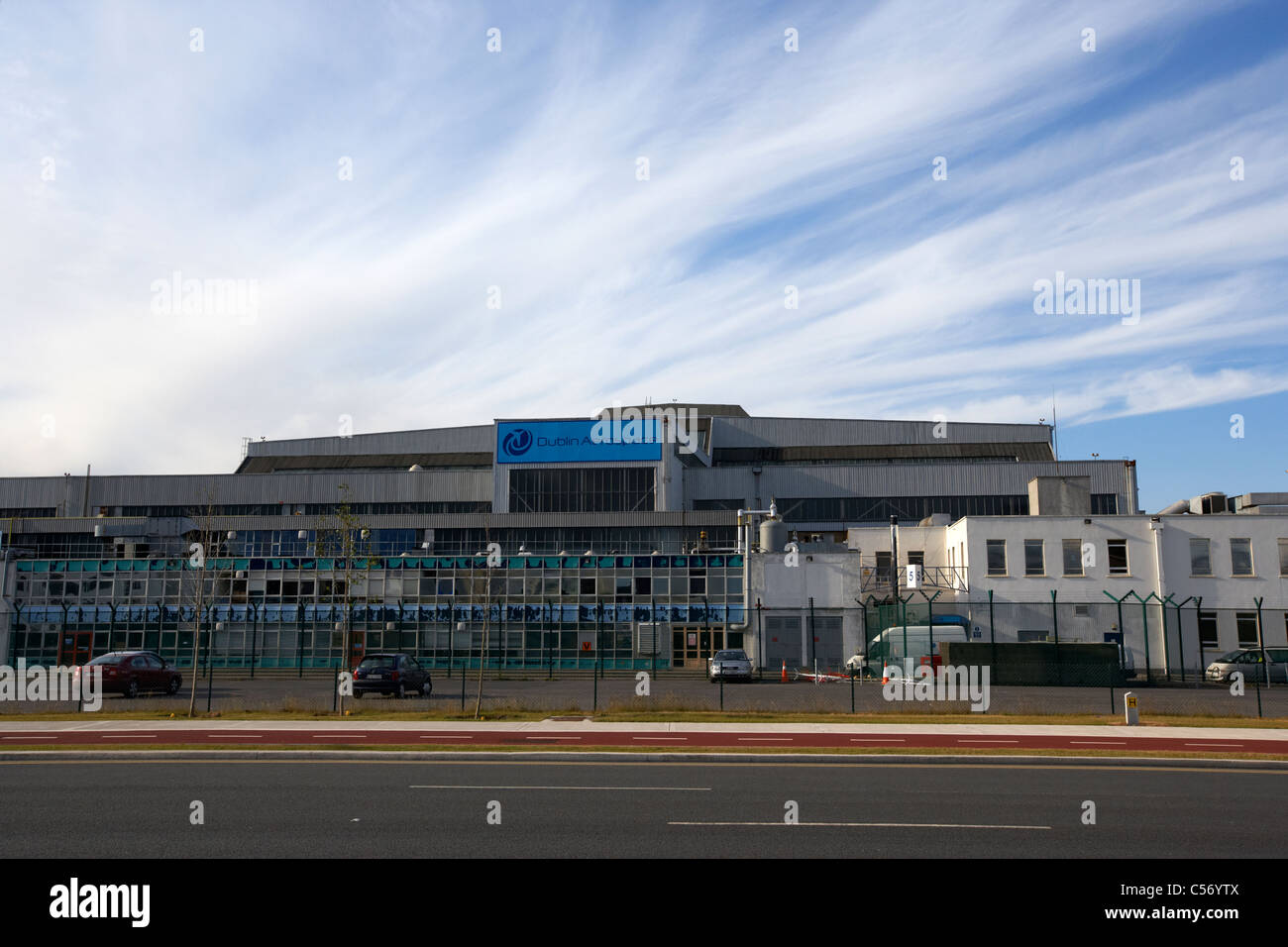 dublin aerospace building at dublin airport republic of ireland europe - Stock Image