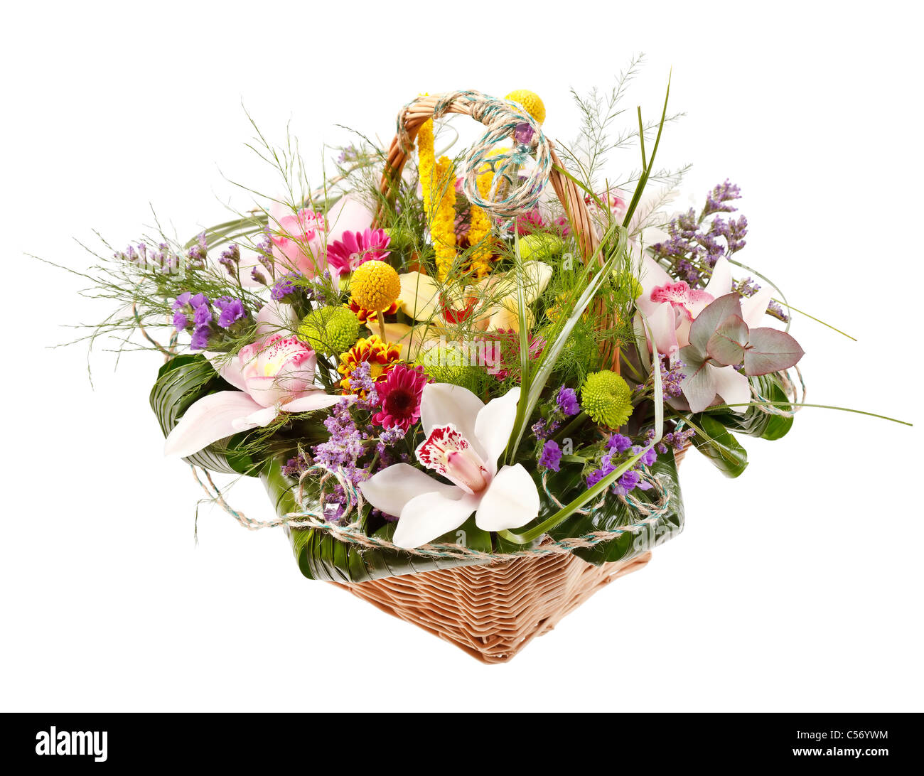 Beautiful flowers in a basket stock photo 37647616 alamy beautiful flowers in a basket izmirmasajfo