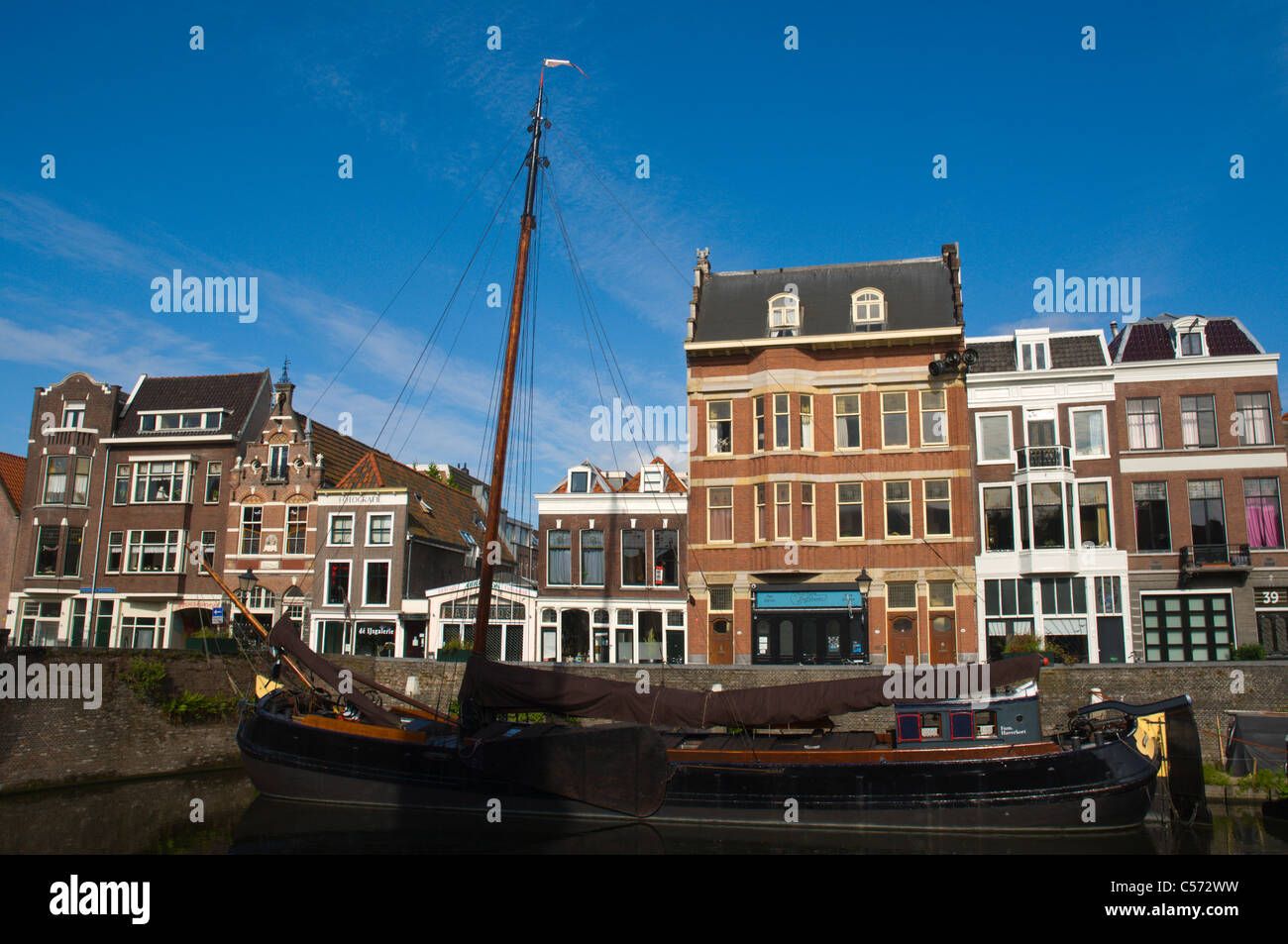 Voorhaven in Delfshaven district Rotterdam the province of South Holland the Netherlands Europe Stock Photo