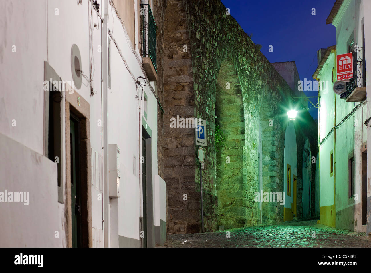 Cano Street, Evora, Portugal, Europe - Stock Image