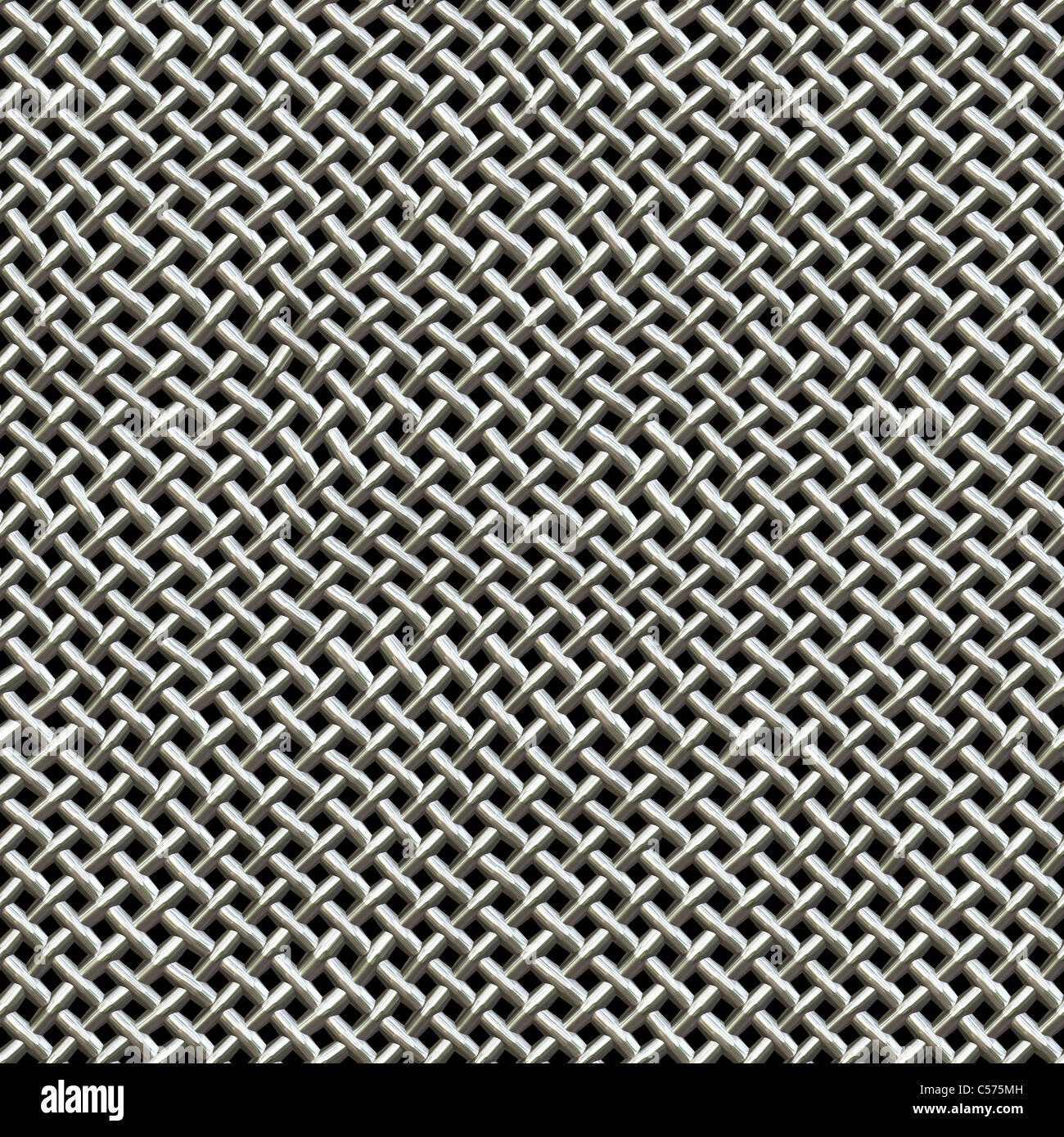 A silver metal wire mesh texture found on microphones. This tiles ...