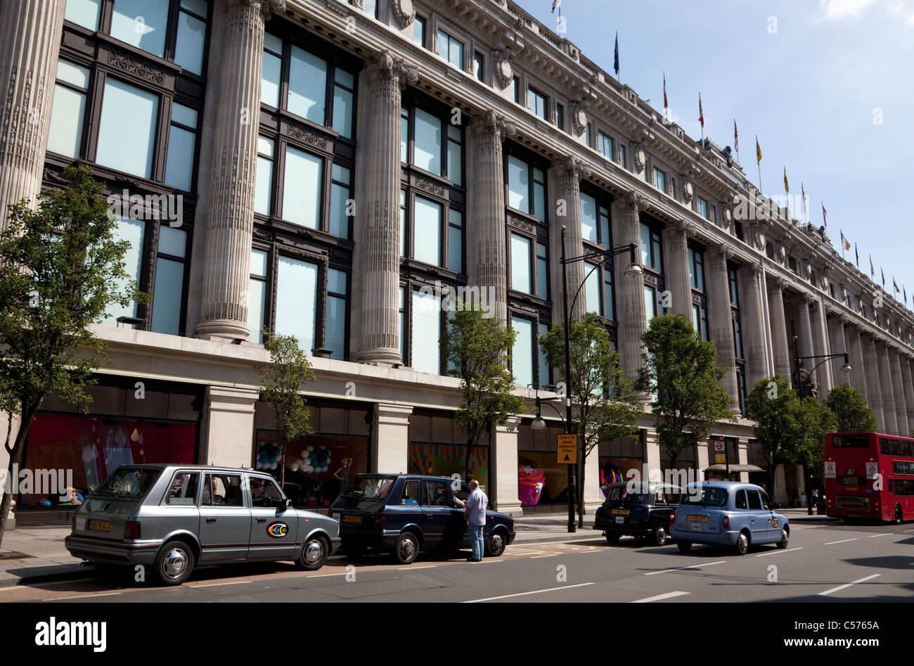 Selfridges store, Oxford Street, London - Stock Image