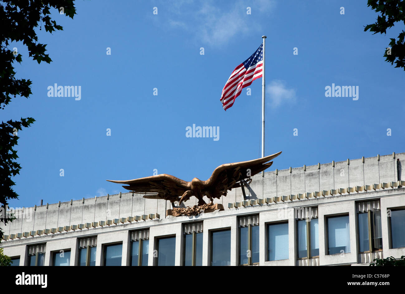 United States of America Embassy, Grosvenor Square, London - Stock Image