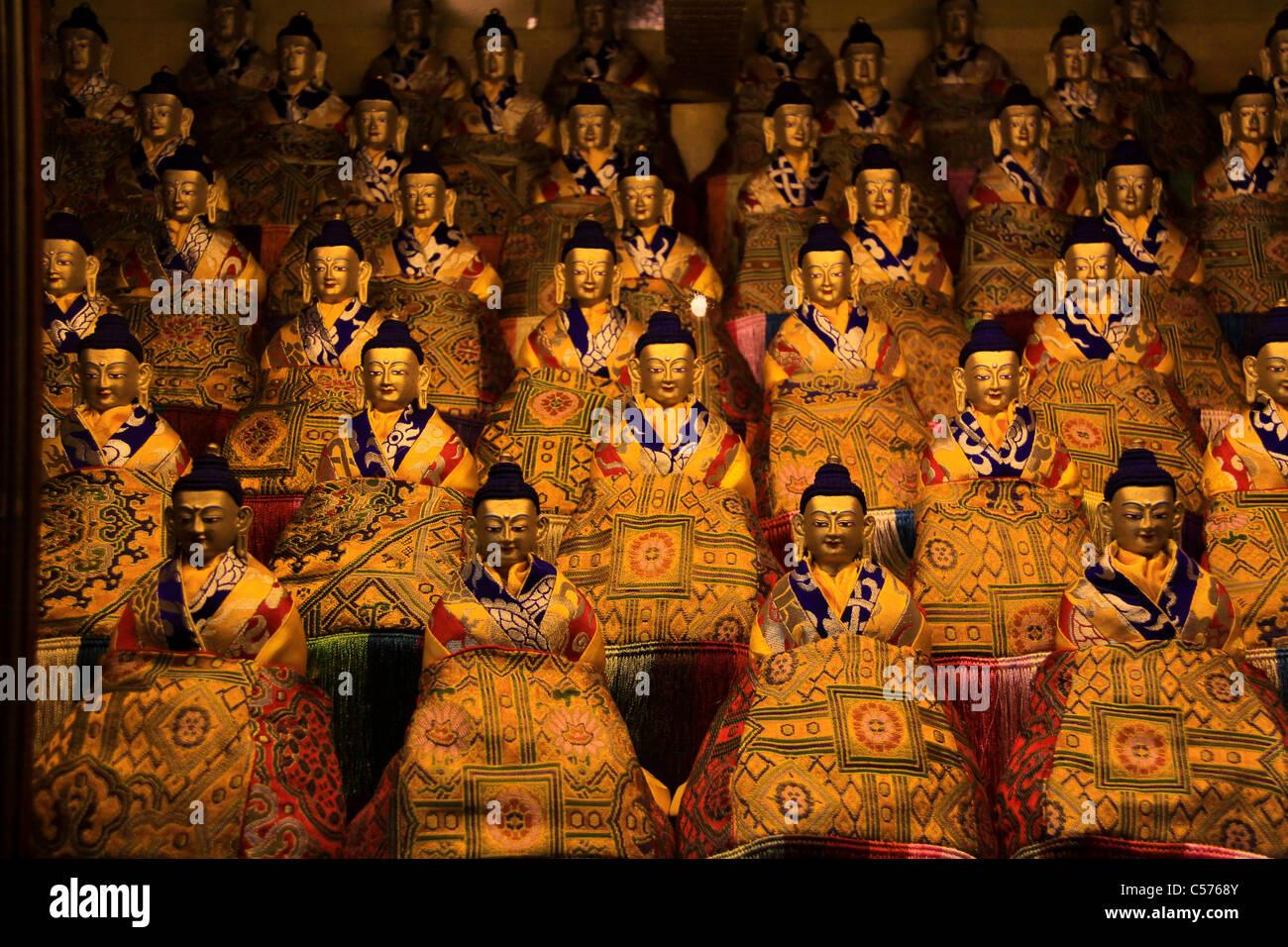 Many faces of Buddha, The Potala Palace, Lhasa, Tibet, China - Stock Image