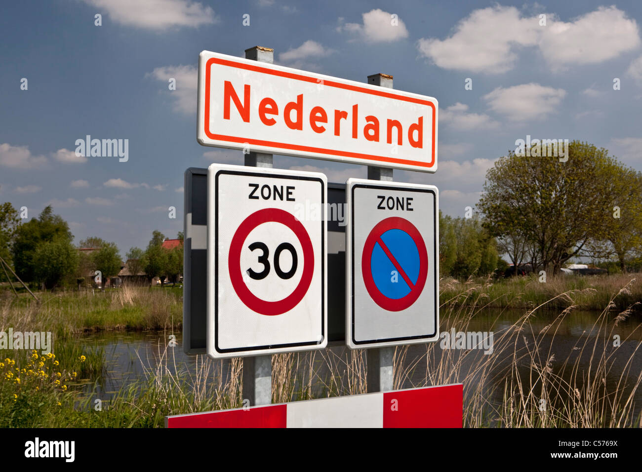 The Netherlands, Nederland, Village called Nederland, which means Netherlands in Dutch. - Stock Image