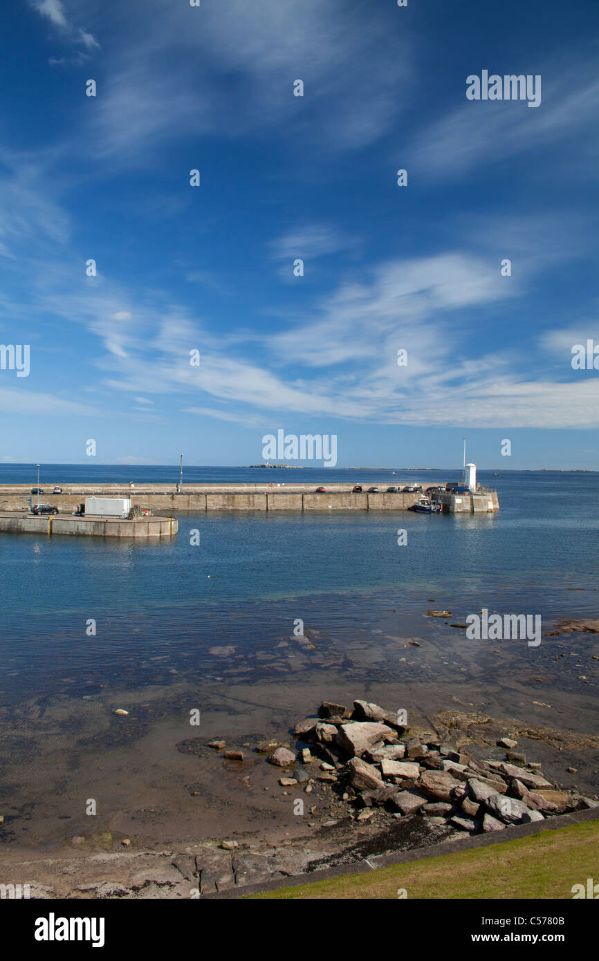 Seahouses (North Sunderland) harbour Northumberland England - Stock Image