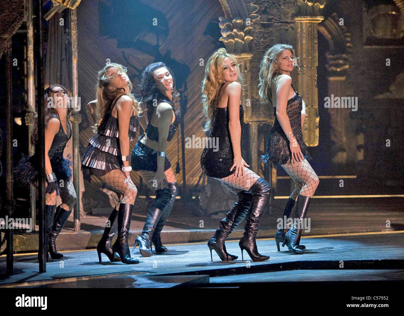 NINE 2009 Weinstein Company film with Kate Hudson second from right - Stock Image