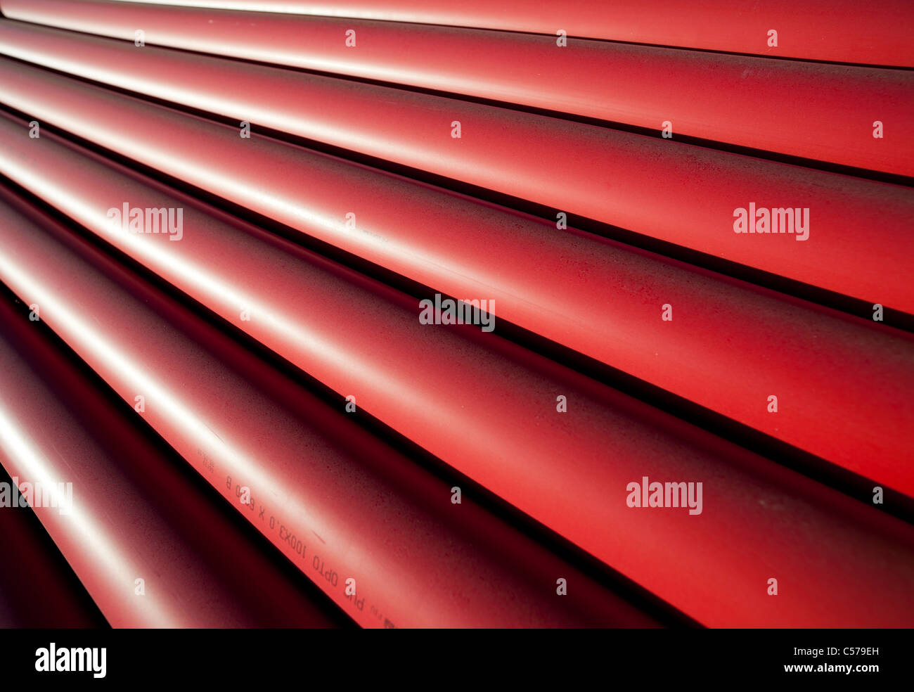 PVC drainage / sewer pipes Stock Photo