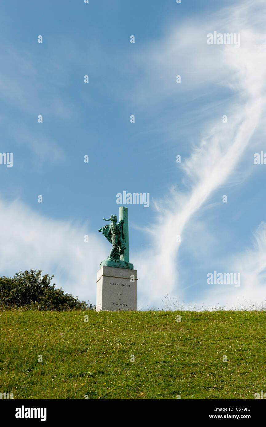 Statue of Jack Crawford in Mowbray Park Sunderland - Stock Image