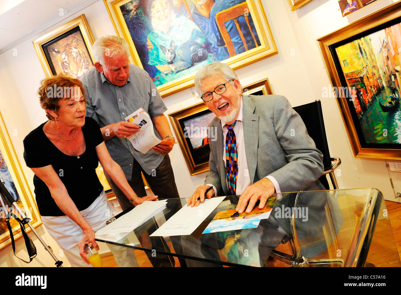 rolf harris at a book signing at an art gallery in Windsor - Stock Image
