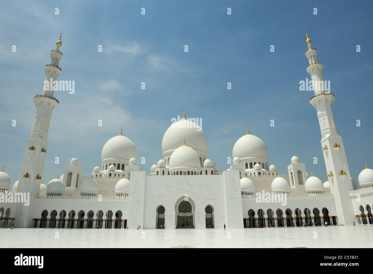 Abu Dhabi Grand Mosque Stock Photo