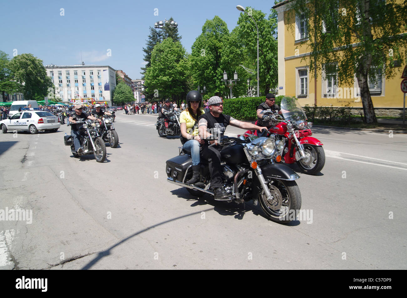 Owners and fans of motorcycle chopper gather in Gabrovo - Bulgaria in the fourth edition of CHROME EVENT. - Stock Image