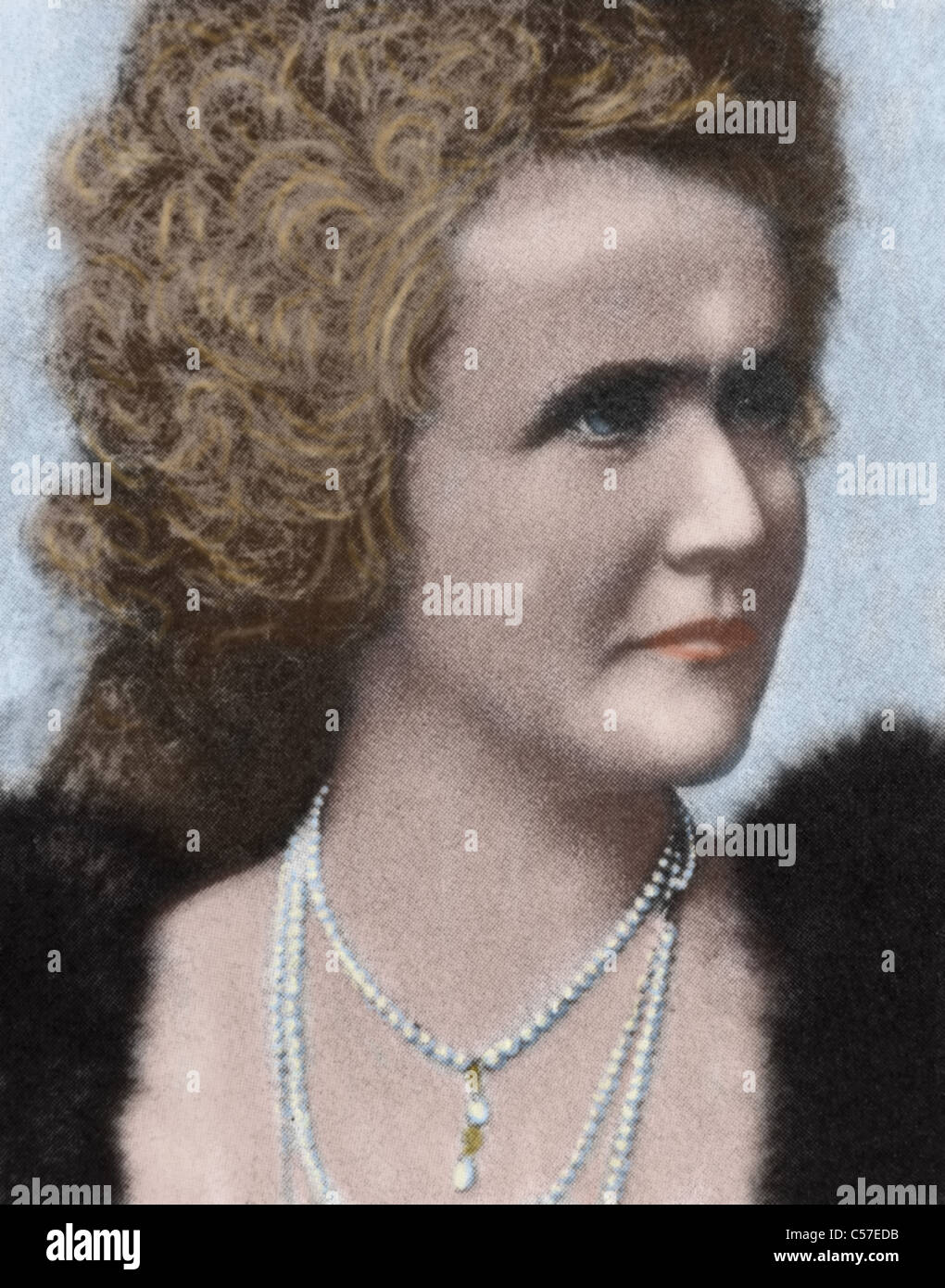 Elisabeth of Wied (1843-1916). Queen consort of Romania as the wife of King Carol I of Romania. - Stock Image