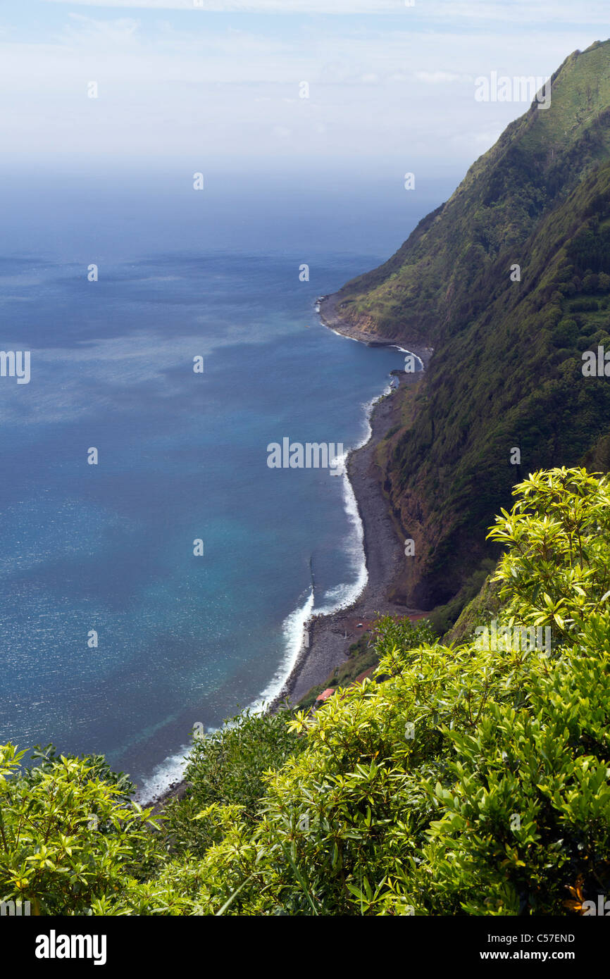 Stunning view from at the Sossego viewpoint, São Miguel island, Azores, Portugal - Stock Image