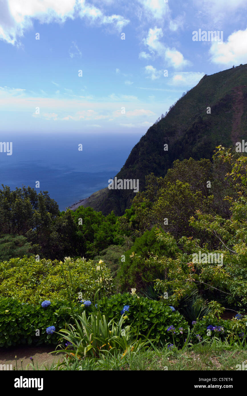 Stunning view from the Madrougada viewpoint, São Miguel, Azores - Stock Image