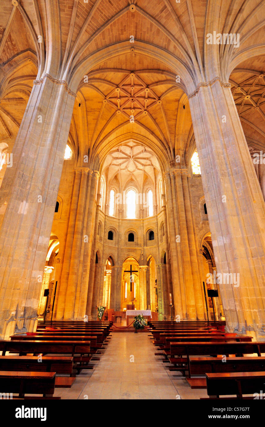 Spain, St. James Way: Interior of the Cathedral of Santo Domingo de la Calzada - Stock Image