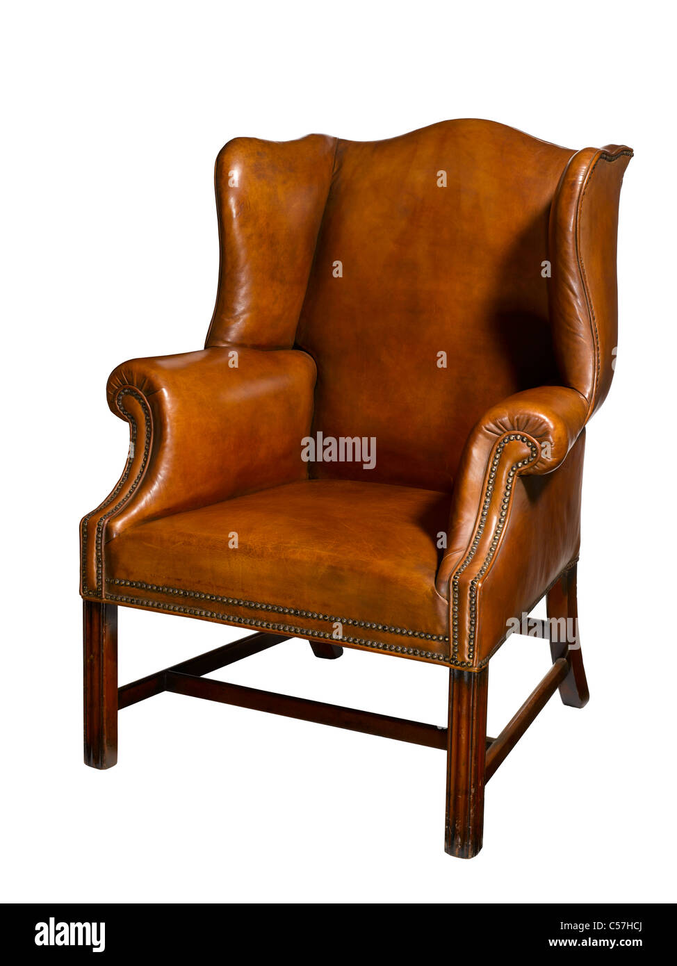 An Old Leather Chair   Stock Image