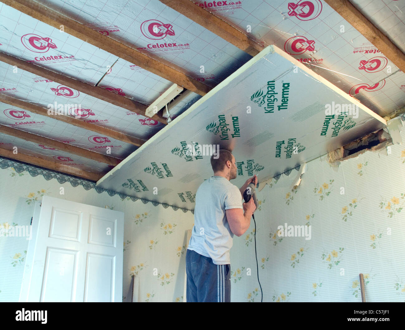 Builders warehouse ceiling insulation energywarden ing interior insulation stock photos builders warehouse ceiling tiles dailygadgetfo Choice Image