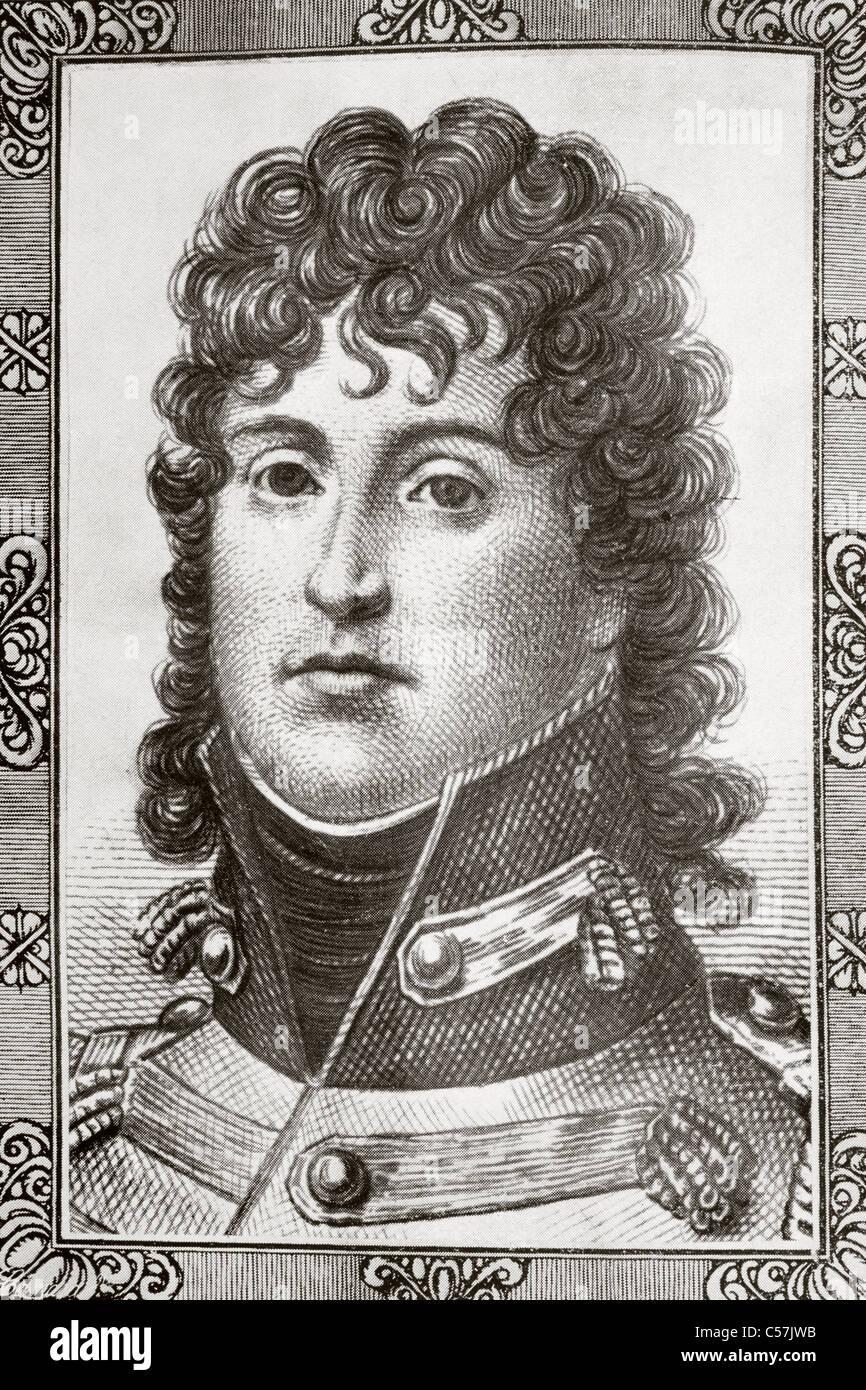 Joachim Murat, 1767 – 1815. French soldier. Marshal of France, King of Naples. - Stock Image
