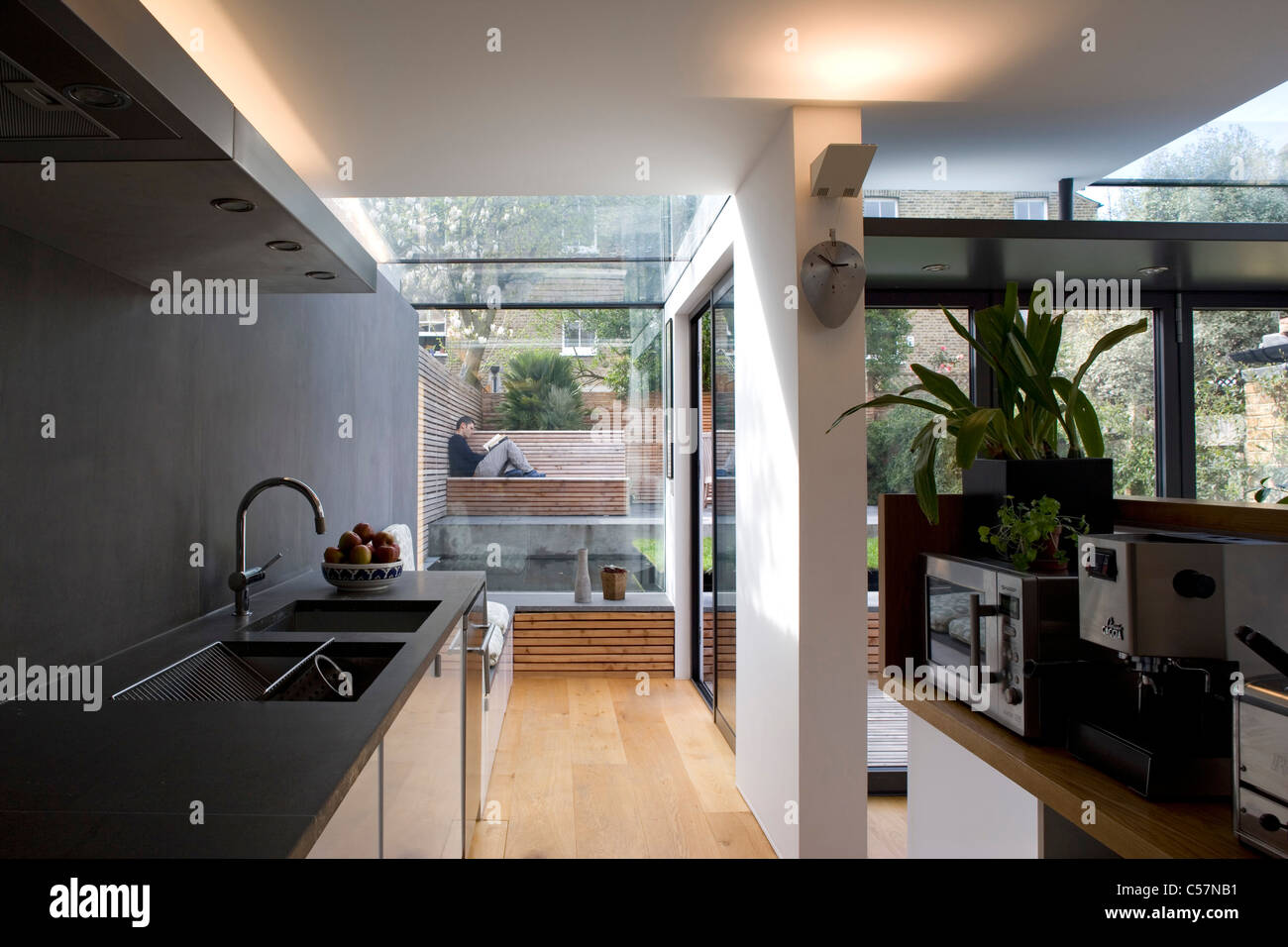 Modern Kitchen In A Victorian House Wandsworth London Stock Photo Alamy
