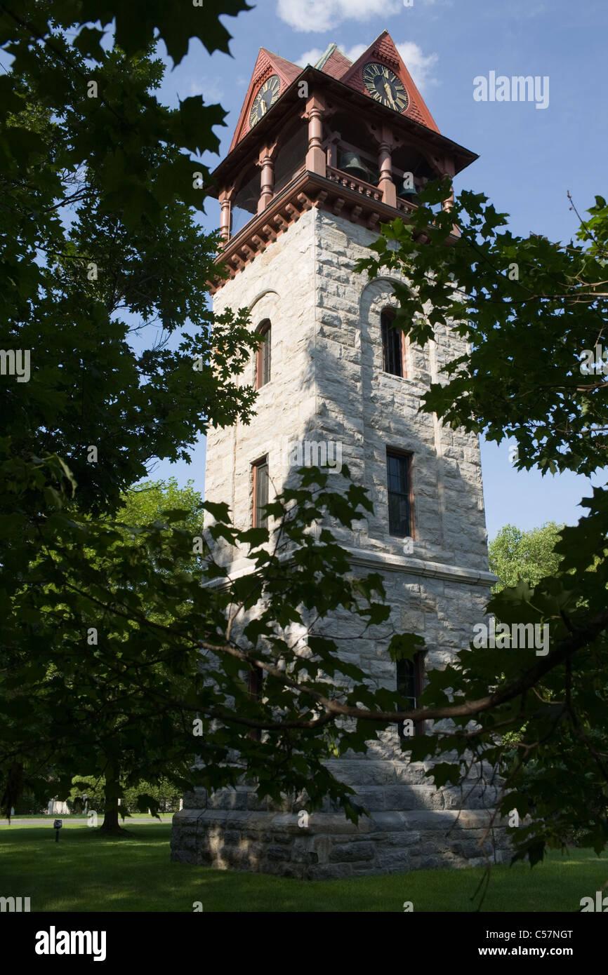 Chime Tower, Stockbridge, Massachusetts, the Berkshires - Stock Image