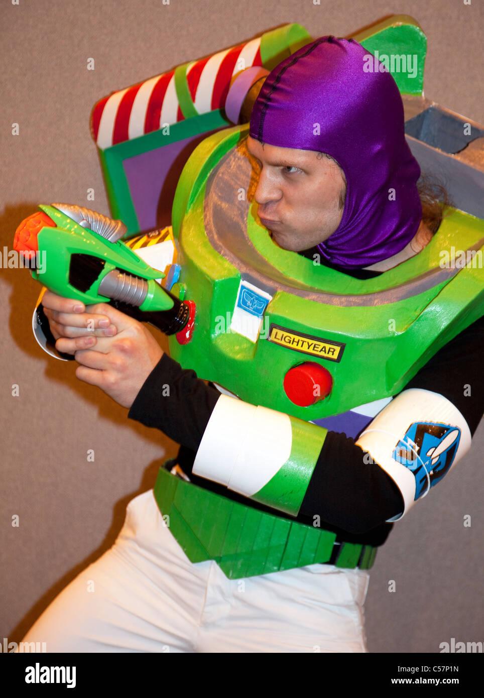 London Film & Comic Con 2011: Buzz Lightyear character - Stock Image
