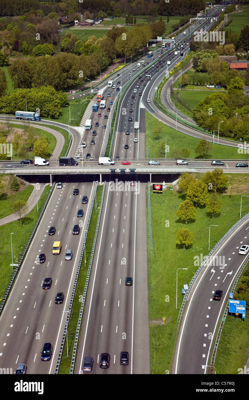 The Netherlands, Gouda, Highway or motorway number A 12. Aerial. - Stock Image