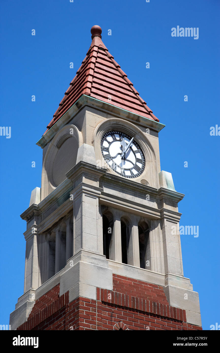 cenotaph clock tower niagara-on-the-lake ontario canada - Stock Image