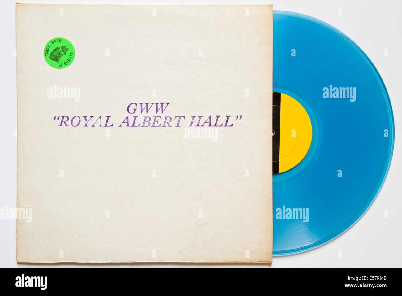 Original bootleg concert recording of Bob Dylan GWW Royal Albert Hall 1966 released 1971 on blue vinyl Stock Photo