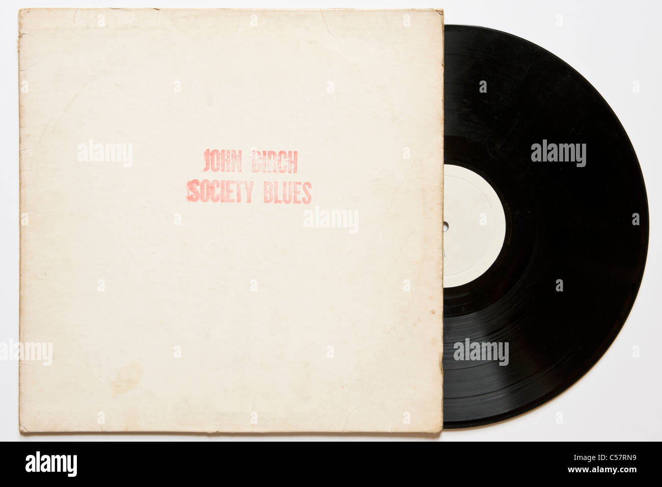 Original bootleg recording of John Birch Society Blues Bob Dylan 1961-64 released 1970 on black vinyl concert & Stock Photo