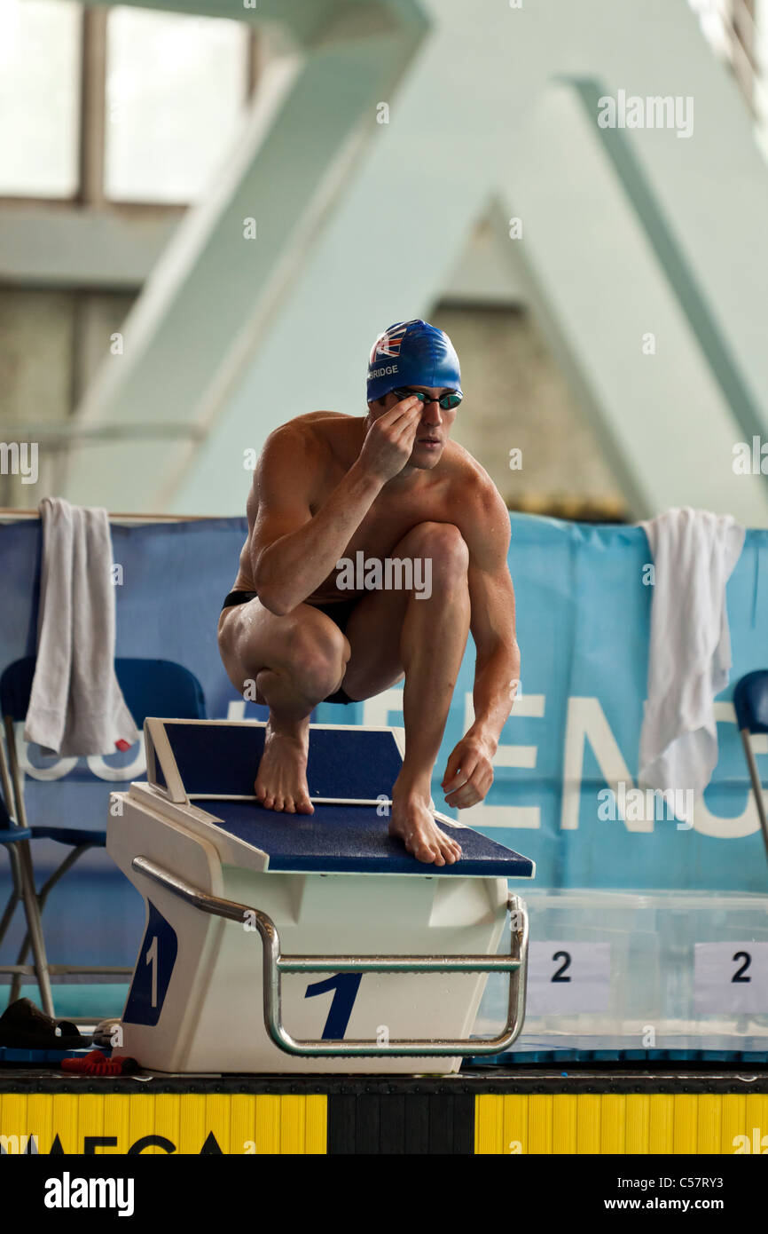 The Swimming Event at the 2011 Modern Pentathlon UIPM World Cup Final, Crystal Palace, London, UK. - Stock Image