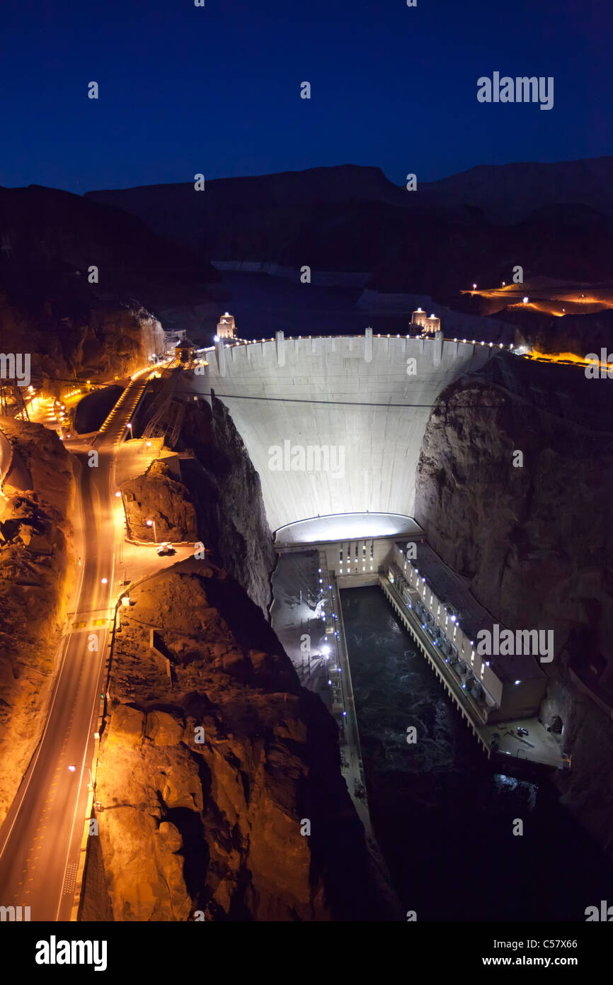 Boulder City, Nevada - The Hoover Dam and Lake Mead. Stock Photo