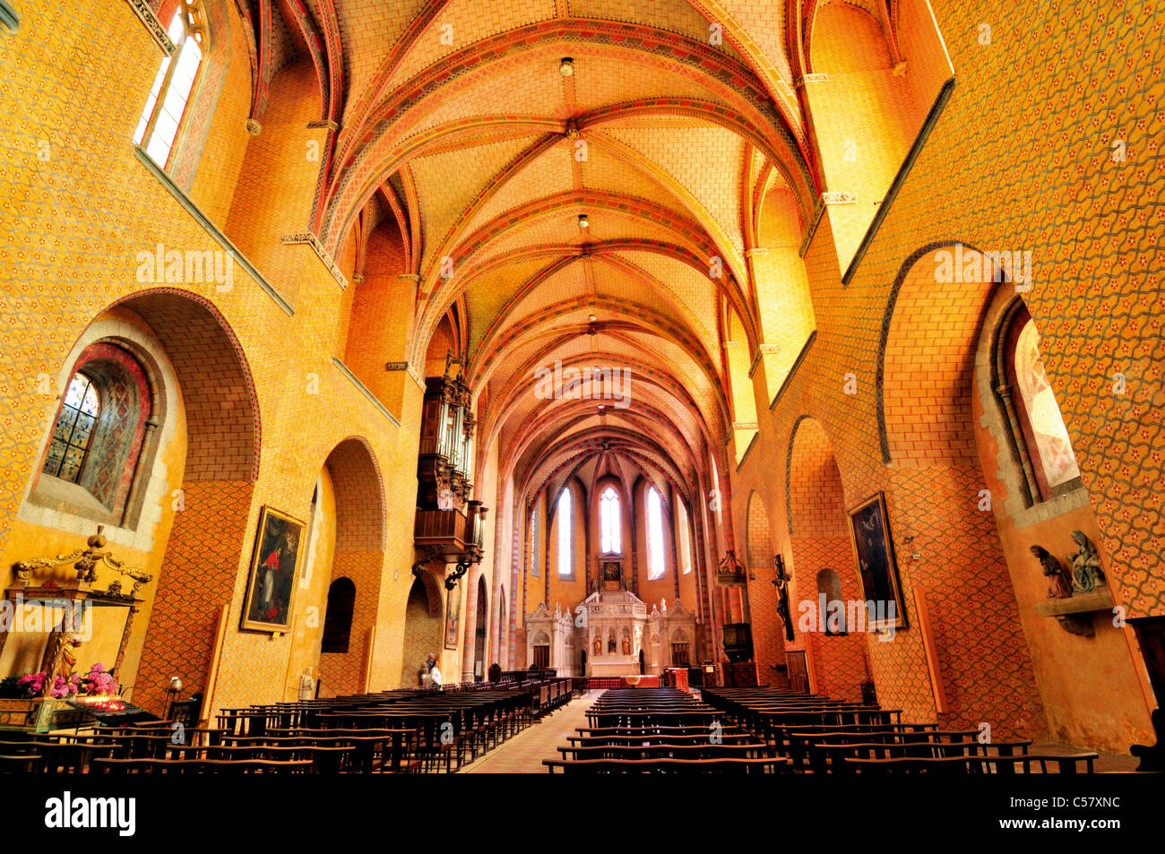 France, St. James Way: Eglise St. Pierre in Moissac - Stock Image