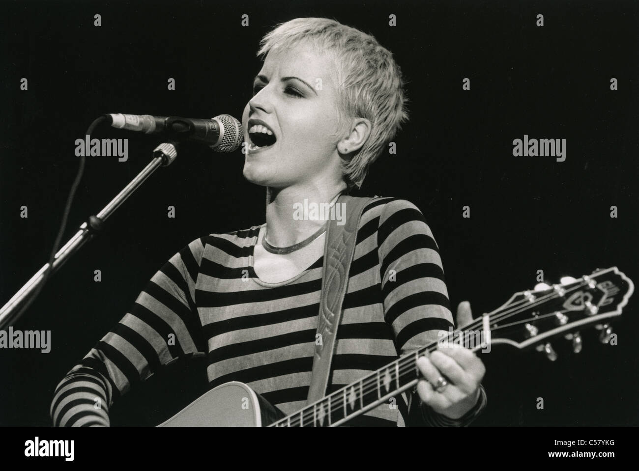 the cranberries uk rock group with vocalist delores o riordan at