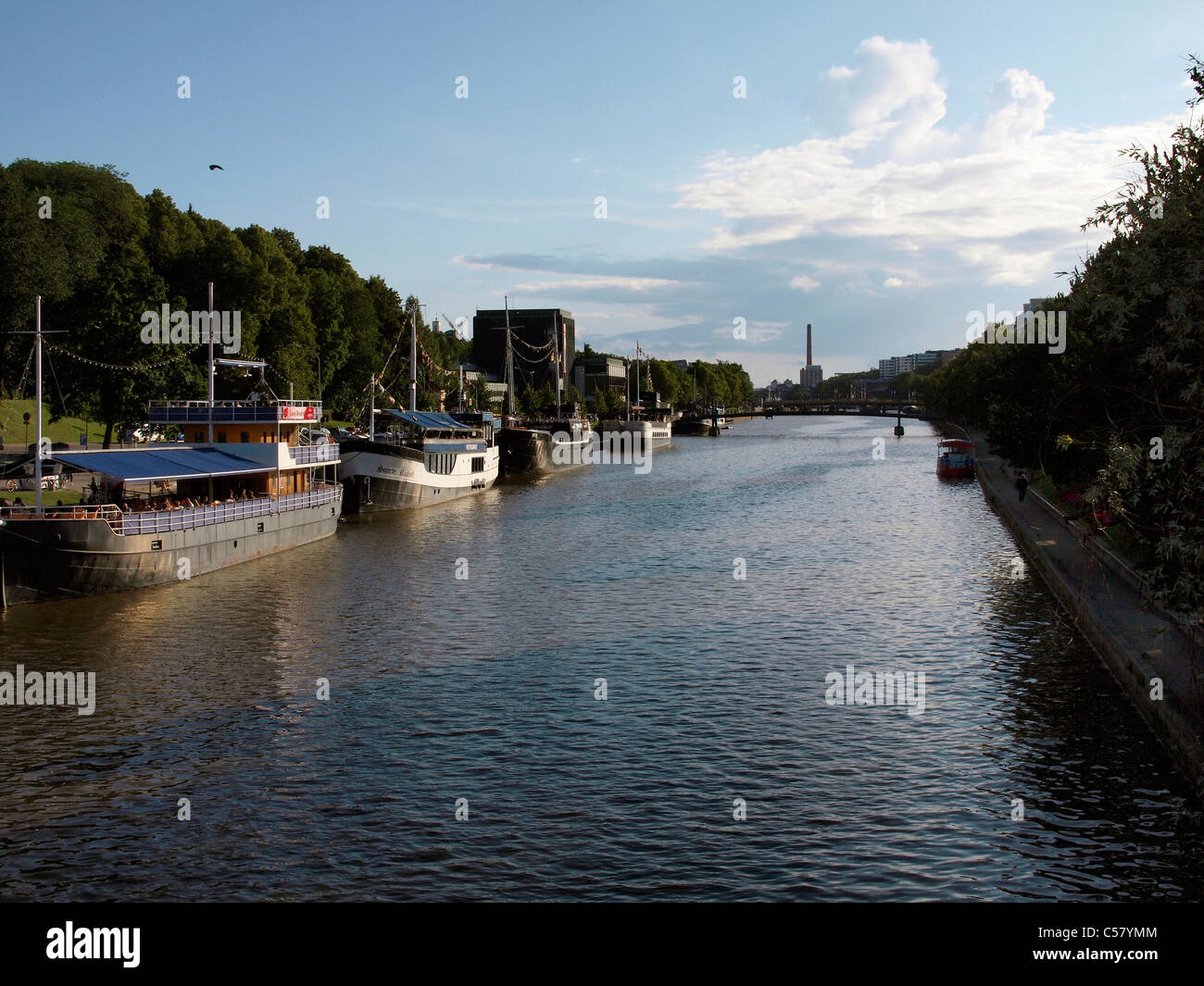 Turku River Aura - Stock Image