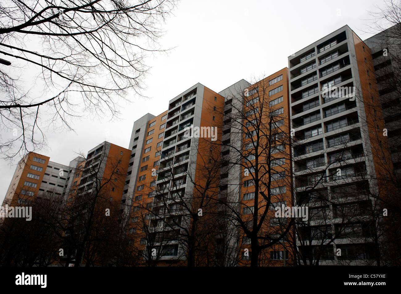 Social housing in Kreuzberg. Berlin, Germany. - Stock Image