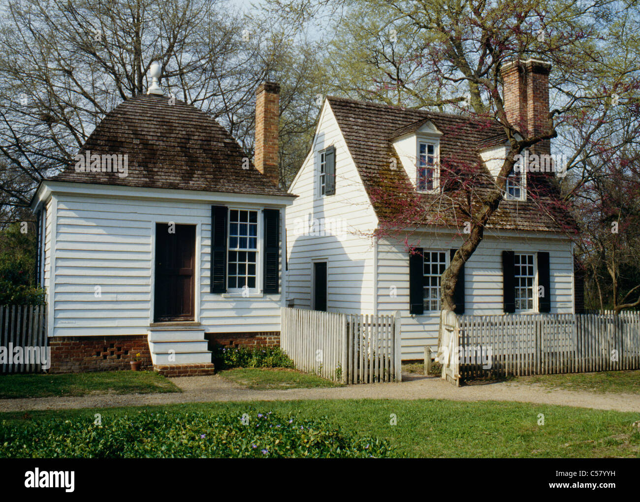 Small Cape Cod style house with end chimney Williamsburg Virginia