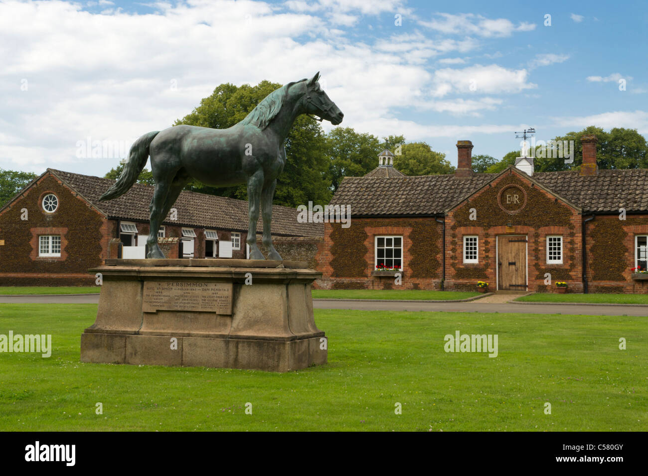 Royal Stables Sandringham Estate Norfolk UK - Stock Image
