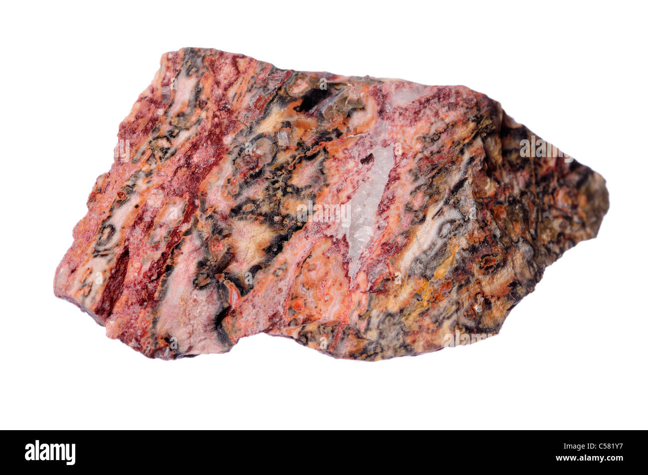 Rhyolite (Mexico) Volcanic equivalent of granite - Stock Image