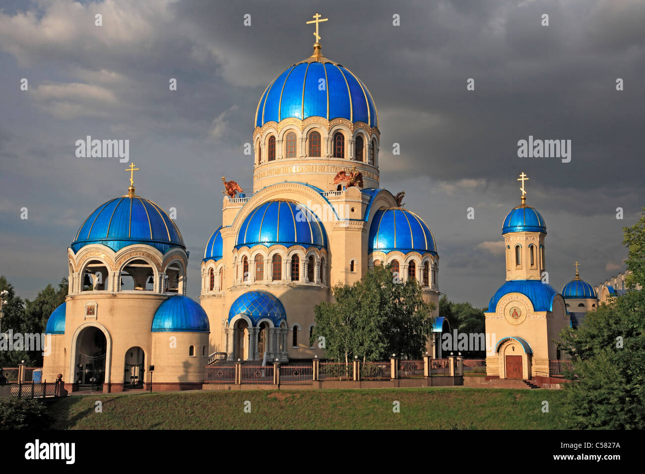 Europe, European, East Europe, Eastern Europe, Russia, Russian, Architecture, building, City, Town, Moscow, Church, - Stock Image