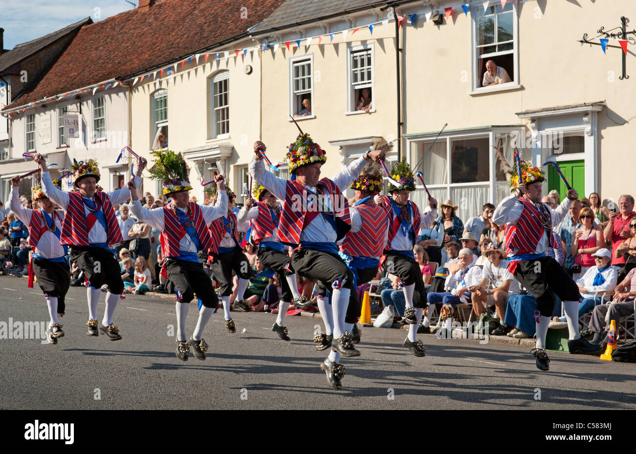 Morris Dancing at the Centenary Morris Dancing Festival in Thaxted, Essex, England, in 2011 - Stock Image