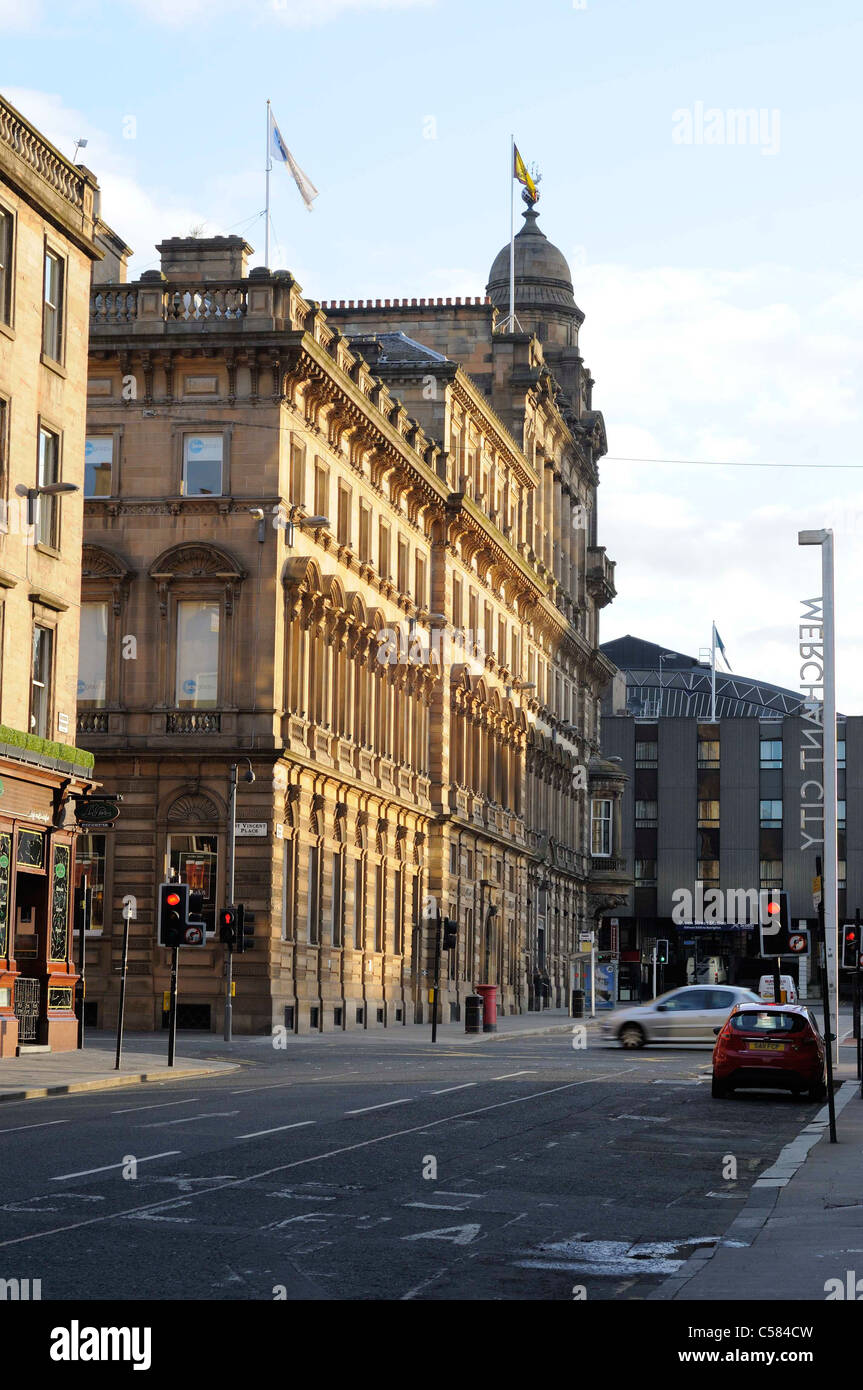Merchant City Area Of Glasgow Queen Street - Stock Image